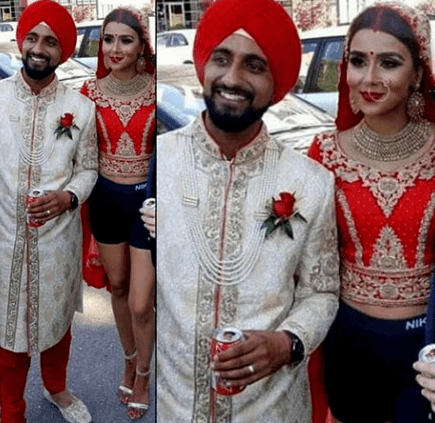 indian bride gym shorts