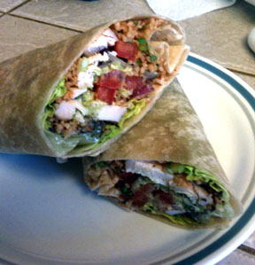Ceasar Chicken Wrap