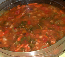 Spicy Chicken Suasage n Bean Soup