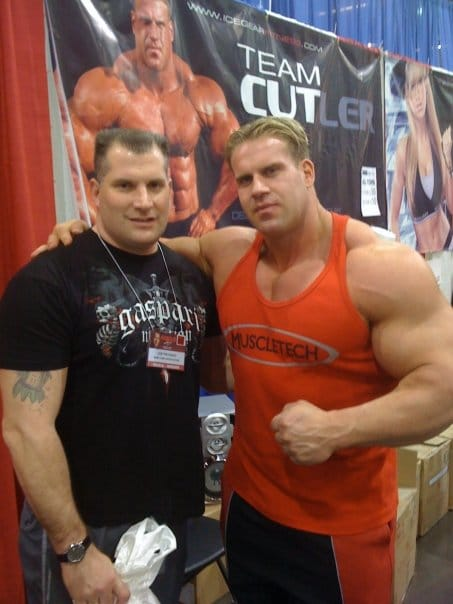 Joe with Jay Cutler at the 2009 Arnold Classic Expo
