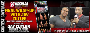 bodybuilder jay cutler desert classic 2013