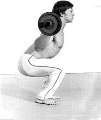 Casey Viator au squat (position correcte)