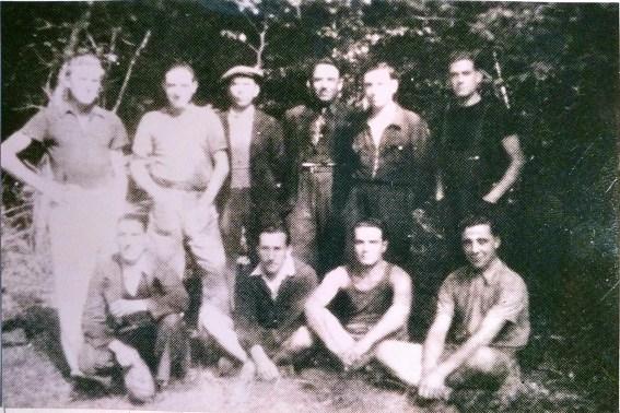 Les premiers Résistants FTPF au camp Gabriel Peri au bois de La Brousse