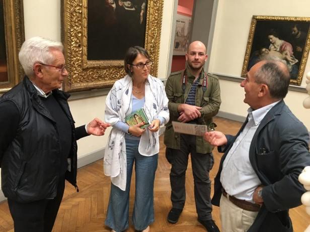 Giorgio Boatti con il Presidente del Museo
