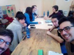 I volontari al lavoro sul progetto