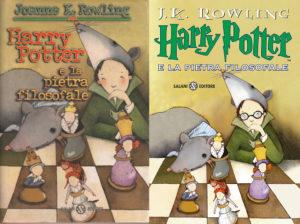 Le prime copertine dell'edizione italiana di Harry Potter e la pietra filosofale illustrate da Serena Riglietti