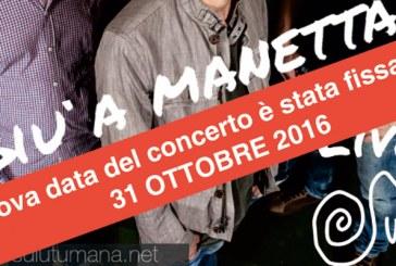 31 OTTOBRE 2016_HALLOWEN CON I SULUTUMANA Fissata la nuova data del concerto.