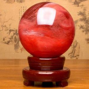 02-Bola de Cristal Rojo Meditación - 40cm