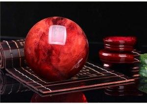 04-Bola de Cristal Rojo Meditación - 40cm