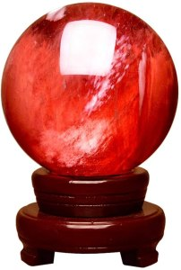 01-Bola de Cristal Rojo Meditación - 40cm