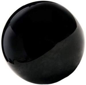 01-Bola de Cristal adivinación Obsidiana - 9cm
