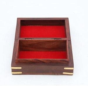 02-Caja para tarot floral con incrustaciones de latón