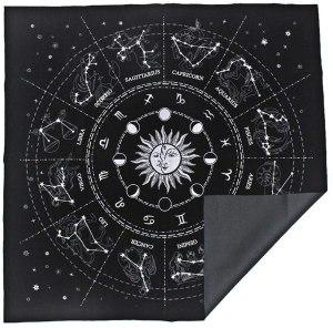 03-Mantel para tarot Constelaciones - Negro