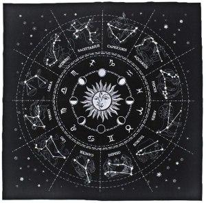01-Mantel para tarot Constelaciones - Negro