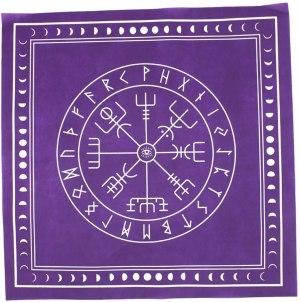 05-Mantel para tarot Runas - Morado