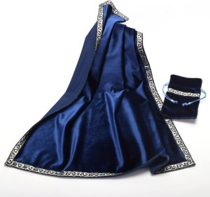 02-Mantel y bolsita para tarot - Azul
