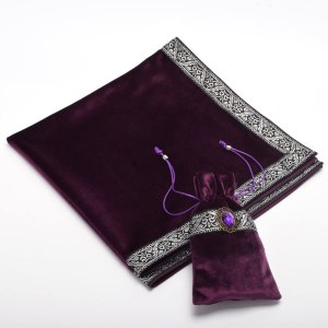 03-Mantel y bolsita para tarot - Morado