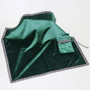 02-Mantel y bolsita para tarot - Verde