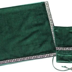 01-Mantel y bolsita para tarot - Verde