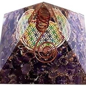 01-Pirámide Energía Amatista Flor de la Vida