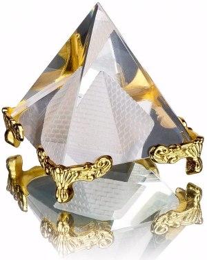 02-Pirámide Energía Cristal Soporte 8cm