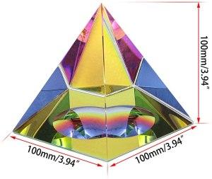 02-Pirámide Energía Cristal iridiscente 10cm