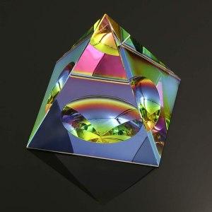 05-Pirámide Energía Cristal iridiscente 8cm
