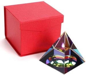 08-Pirámide Energía Cristal iridiscente 8cm