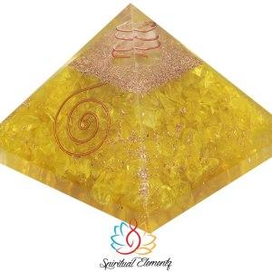 02-Pirámide Energía Orgonita Amarilla