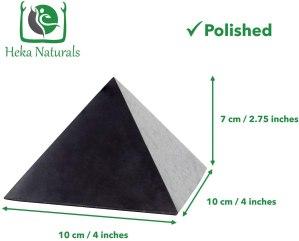 03-Pirámide Energía Shungita pulida 10cm