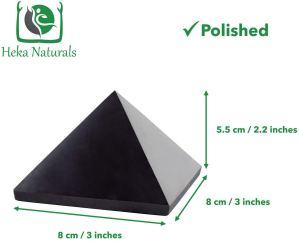03-Pirámide Energía Shungita pulida 8cm