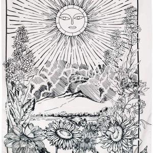 01-Tapiz Tarot Blanco  El Sol XIX