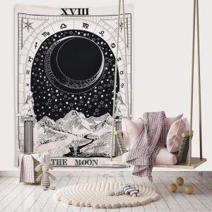 06-Tapiz Tarot Blanco  La Luna XVIII