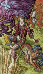 Universal Fantasy Tarot  El Loco