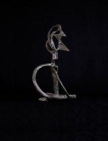 """"""" Autorretrato"""" s.f. : bronce 46 x 27 x 28 cm"""