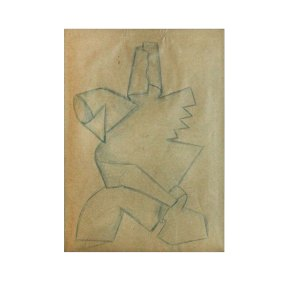 """Boceto Mikio-Ito"" s.f. : lápiz de color sobre papel 32 x 22.5 cm"