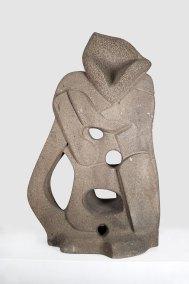 """""""El bufón"""" 1960-1961 : piedra de Tulpetlac 130 x 79 x 44 cm"""