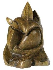 """Orador"" 1953 : bronce 29 x 23 x 22 cm"