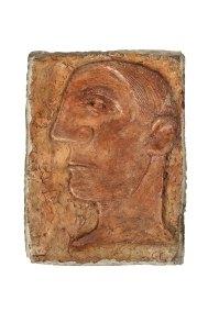"""Perfil de Picasso"" s.f. : terracota : 20.5 x 15.3 x 3 cm"