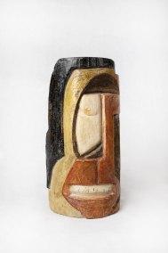 """""""Sin título"""" s.f. : madera policromada : 27.5 x 13.5 x 9 cm"""