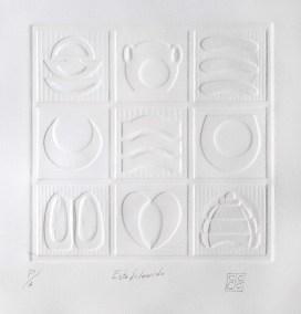 Disección 1 de escarabajo | 1997 Gofrado 76 x 76 x 4 cm