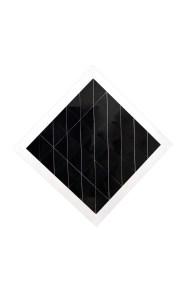 Cuadro blanco y negro 1980 acrílico pintado 119 x 119 x 2 cm