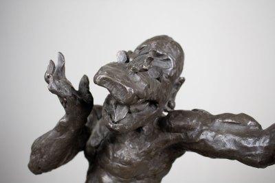 """Ehécatl 2"" : 2008 : bronce : 56 x 57 x 25 cm"