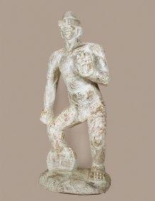 """""""Señor nocturno"""" : 2013 : talla en madera estucada : 182 x 82 x 57 cm"""