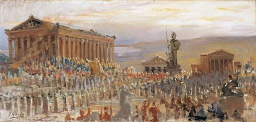 Ceremonia en la Acrópolis