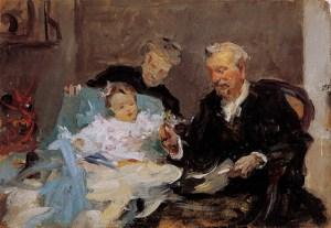 Padres del pintor, con su nieta Lola (boceto)