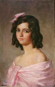 Retrato de la hija Jacinto Picón y Bouche