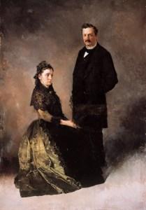 Retrato de los padres del pintor (boceto)
