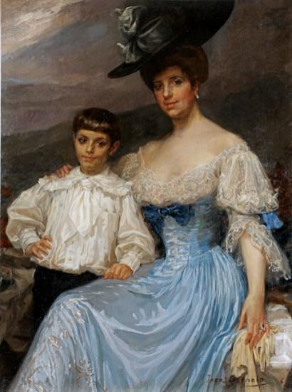 Dª María Vinyals e hijo