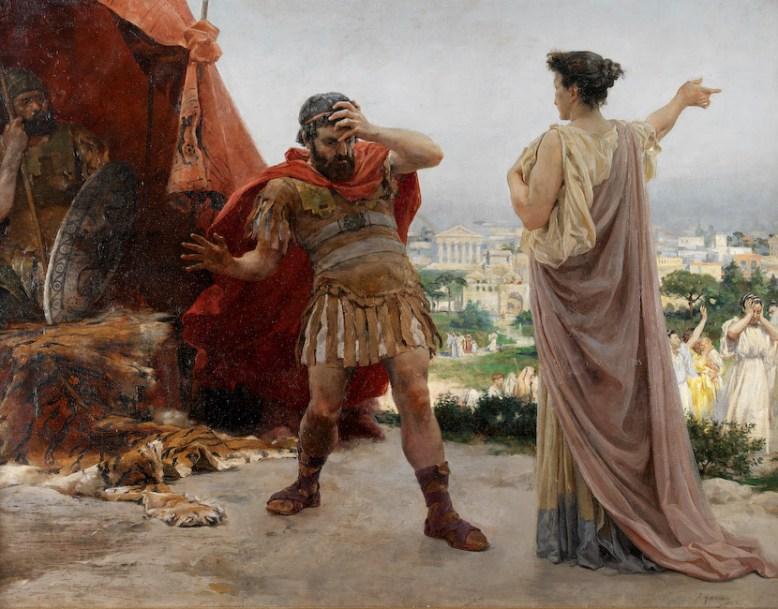 Veturia y Coriolano.
